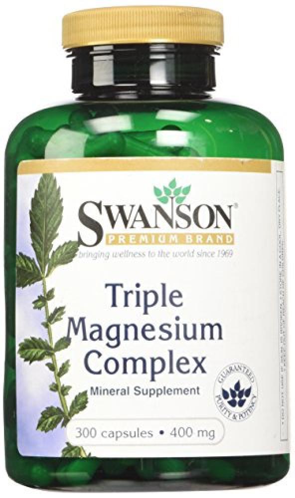 Swanson Triple Magnesium Complex (400mg 300 Capsules)