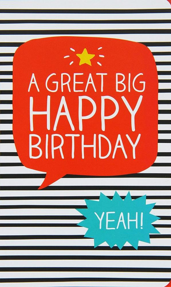Happy Jackson A Great Big Happy Birthday Gift Card 100 g