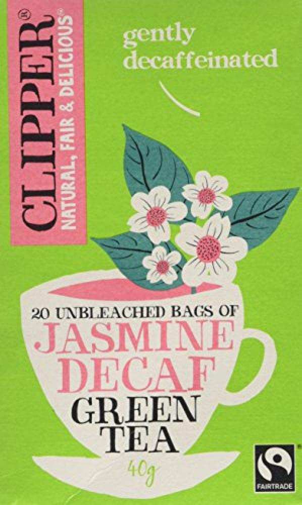 Clipper 20 Unbleached Bags of Jasmine Decaf Green Tea 40g