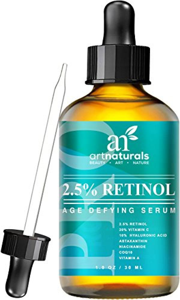 Art Naturals Enhanced Retinol Serum-30 ml-2.5 with 20 Vitamin C and Hyaluronic Acid-Anti-aging