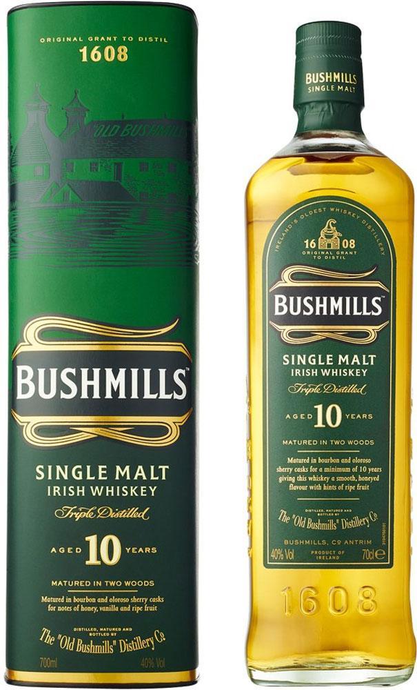 Bushmills 10 Year Old Single Malt Irish Whiskey 70 cl WITHOUT BOX