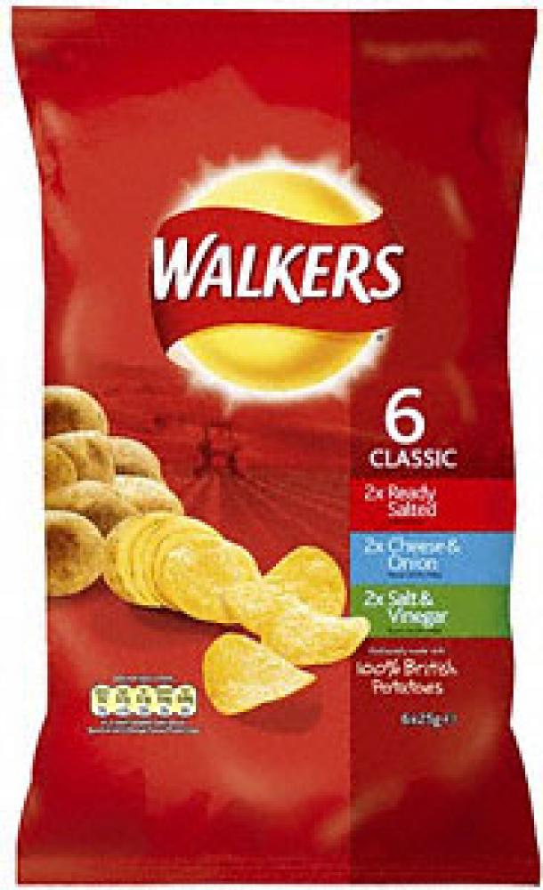 Walkers Crisps Classic Variety 6 Pack | Approved Food
