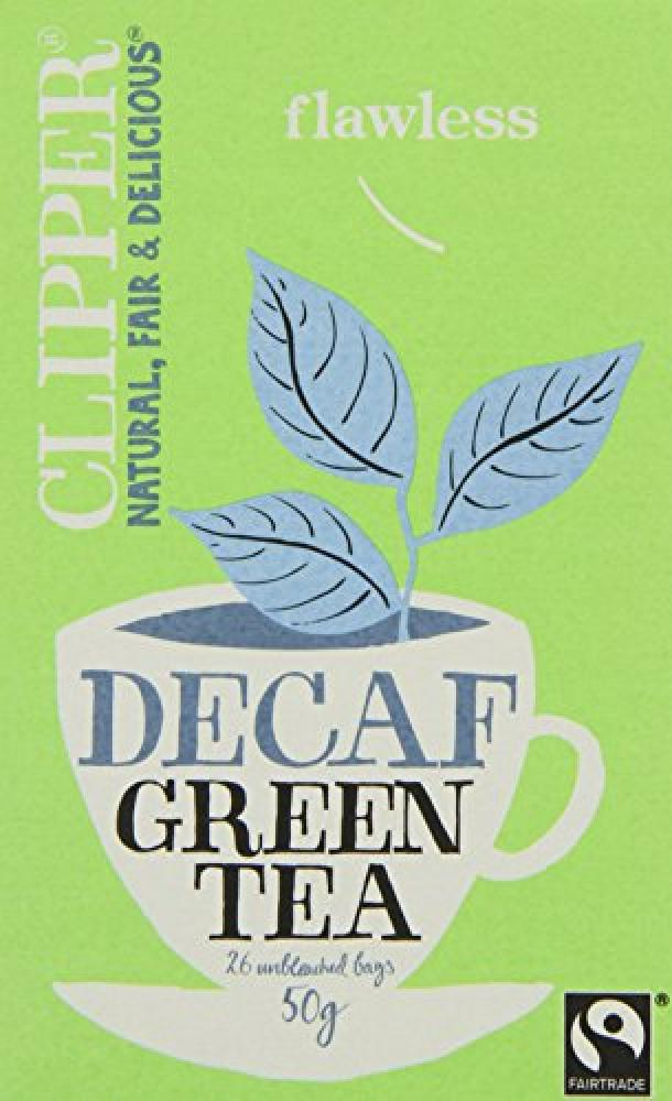 Clipper 26 Unbleached Bags of Decaf Green Tea 50g