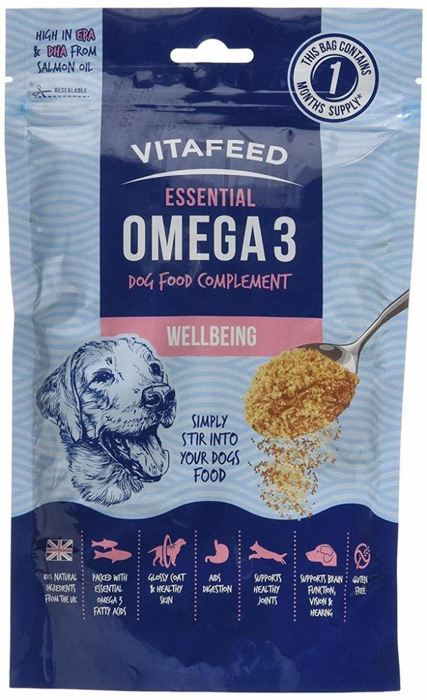 Vitafeed Omega 3 Wellbeing Salmon Oil Dog Food Topping 225g