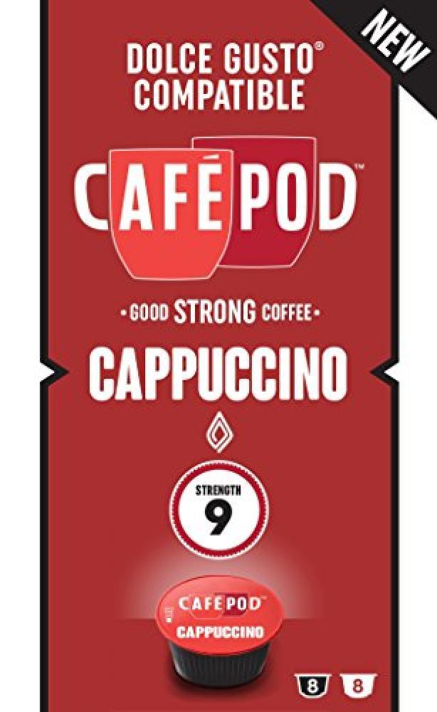 Cafepod 16 Cappuccino Dolce Gusto Compatible Capsules