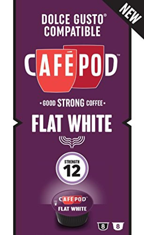 Cafepod Dolce Gusto Compatible Flat White Capsules