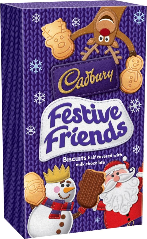Cadbury Festive Friends Biscuits 150g