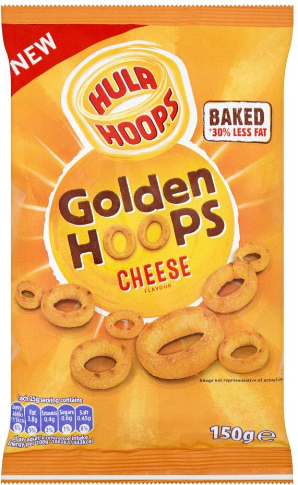 Hula Hoops Golden Hoops Cheese Flavour 150g