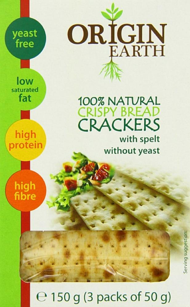 Origin Earth Natural Crispy Bread Crackers 150g