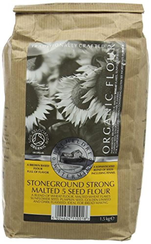Bacheldre Watermill Organic Stoneground Strong Malted 5 Seed Flour 1500g