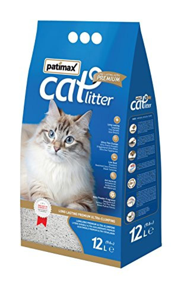 Patimax Fragrance Long Lasting Premium Cat Litter with Baby Powder 12 litre