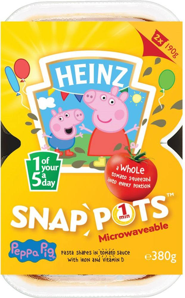 Heinz Peppa Pig Microwavable Snap Pots 2 Pack 380g