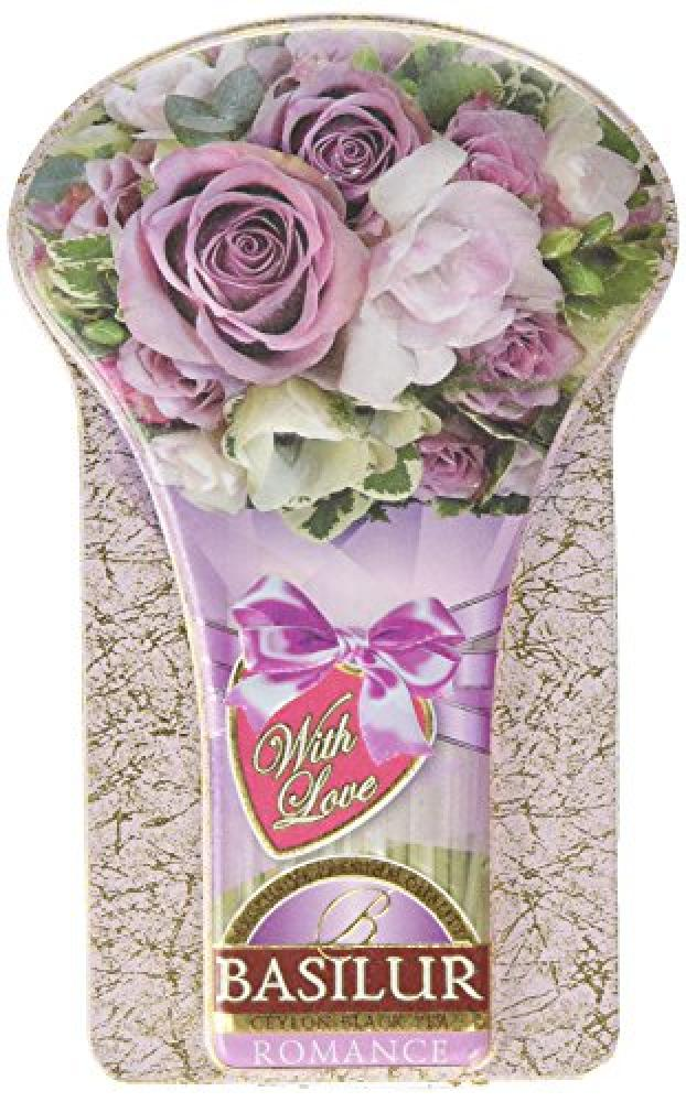 Basilur Tea With Love Collection Romance Loose Black Tea in Metal Tin Caddy 100 g