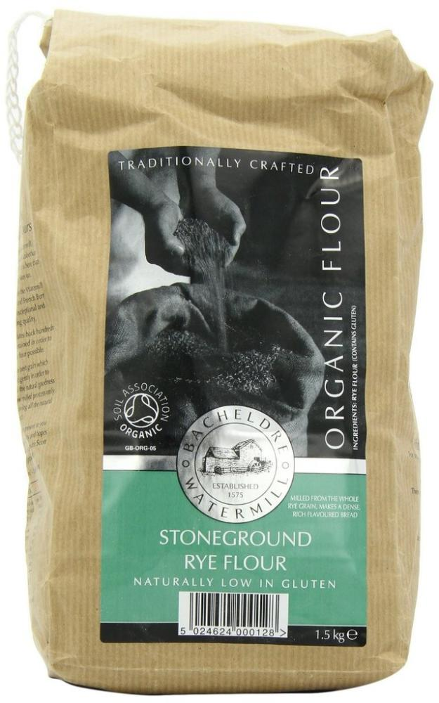 Bacheldre Watermil Organic Stoneground Rye Flour 1.5kg