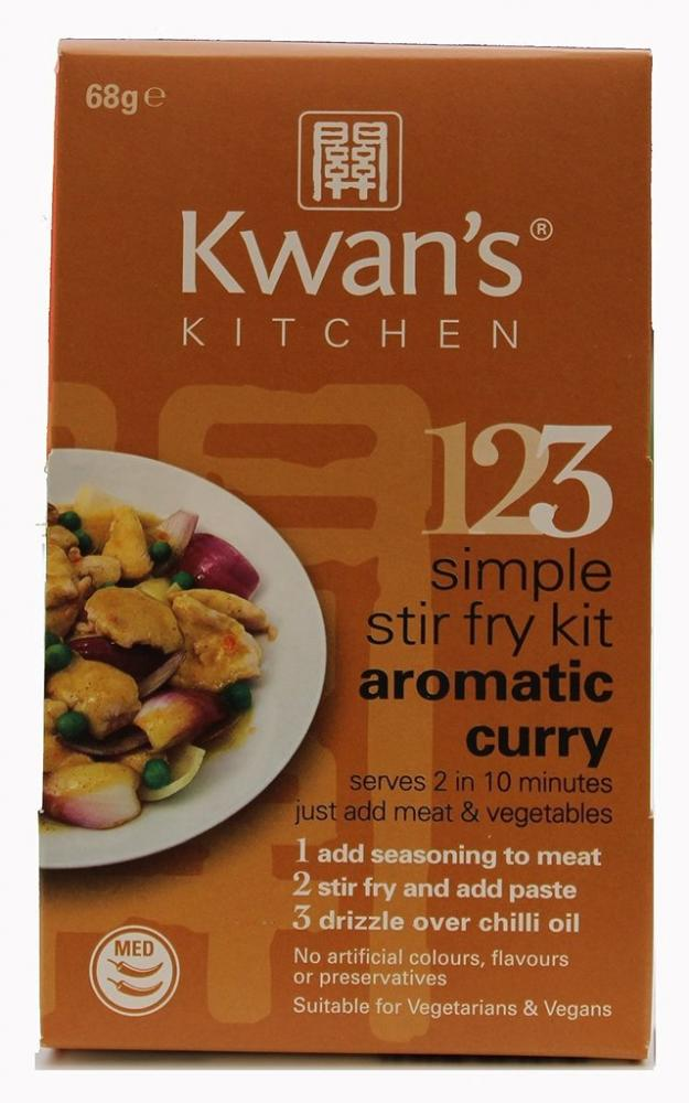 Kwan Kitchen Aromatic Curry Stir Fry Meal Kit 68g