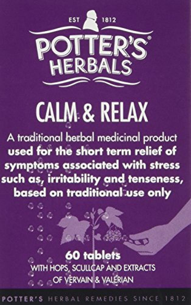 Potters Calm and Relax Pack of 60 Tablets