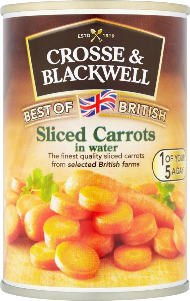Crosse and Blackwell Sliced Carrots in water 300g