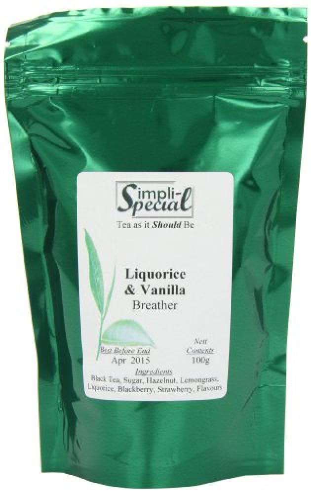 Simpli-Special Liquorice and Vanilla Breather - Black Loose Leaf Tea 100g