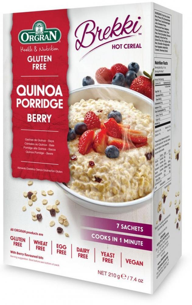 Orgran Gluten Free Quinoa Porridge Berry 210g