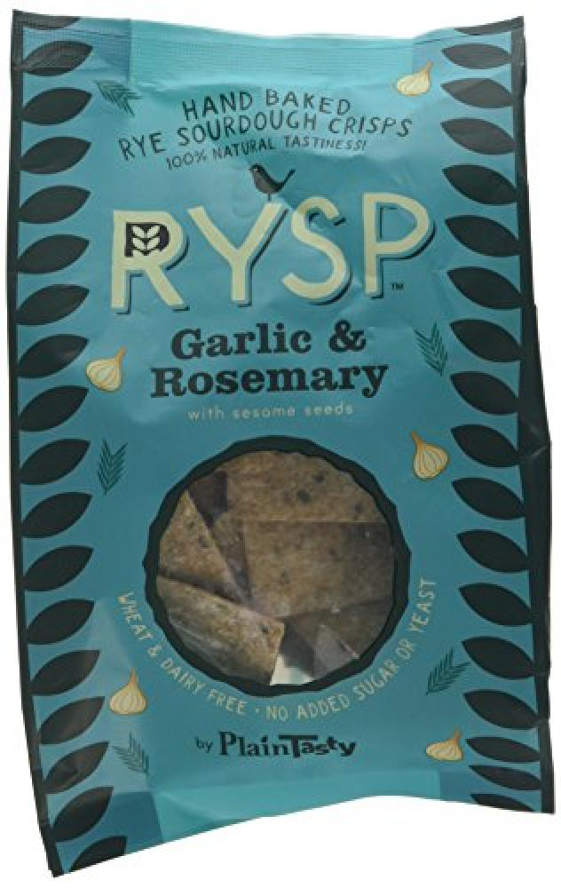 Plaintasty Rysp Garlic and Rosemary Flavour 100 Percent Rye Sourdough Crisp 120g