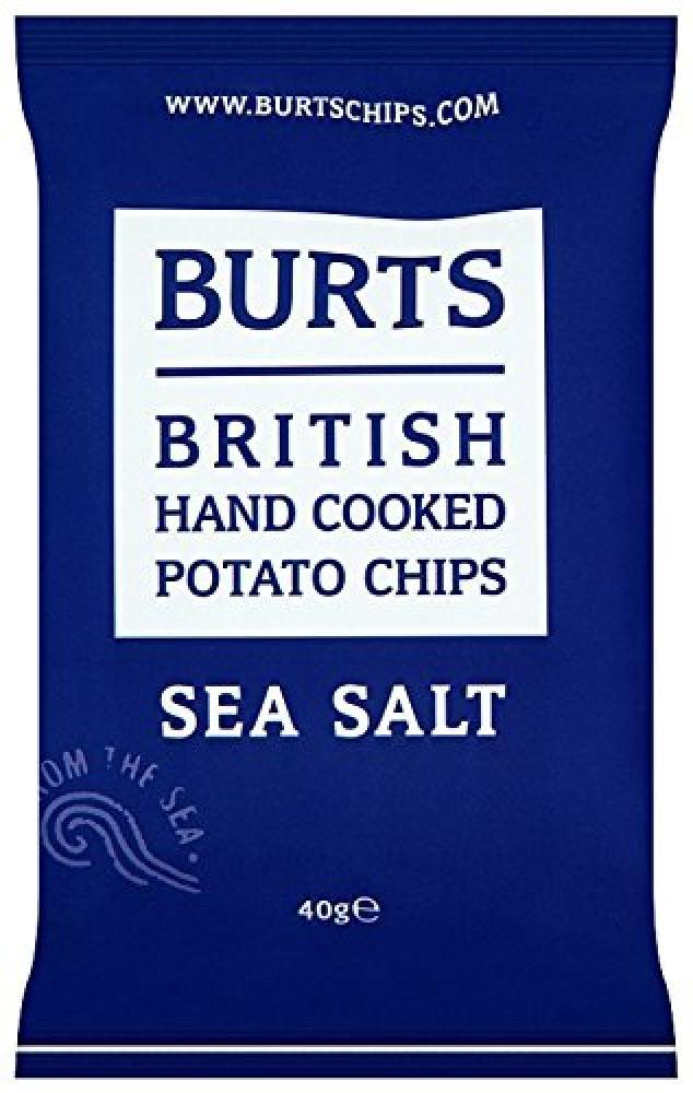 Burts British Hand Cooked Potato Chips Sea Salt 40g