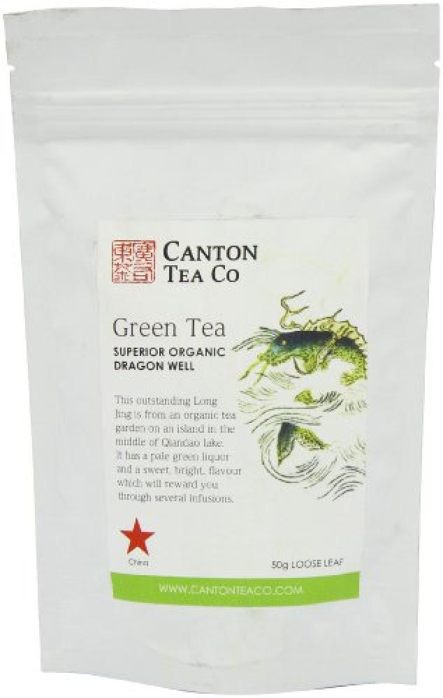 Canton Tea Co Green Tea Organic Dragon Well Long Jing 50 Teabags 75g