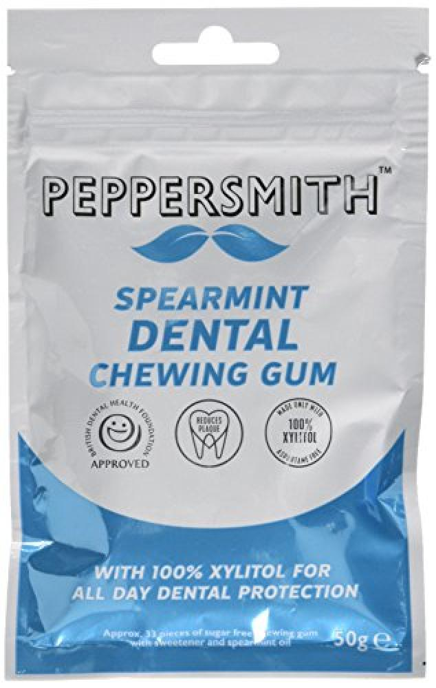 Peppersmith 100 Percent Xylitol Spearmint Chewing Gum 50 g