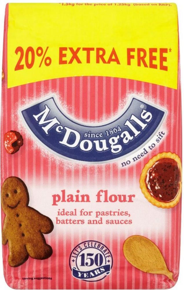 Mcdougalls Plain Flour 1.5kg