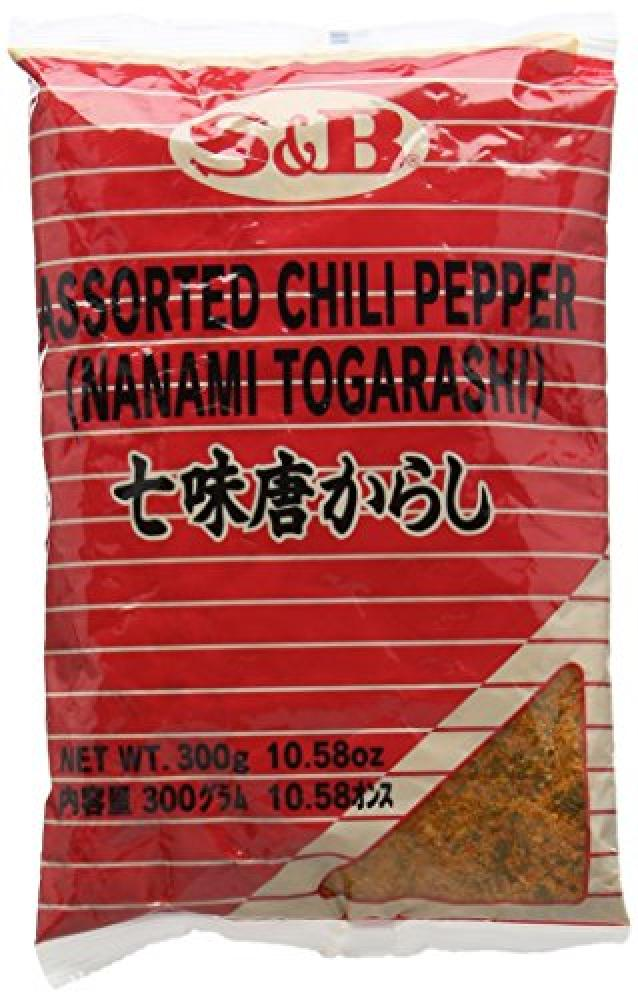 S and B Japanese 7 Flavours Seasoning Mix Shichimi Chili Pepper 300 g