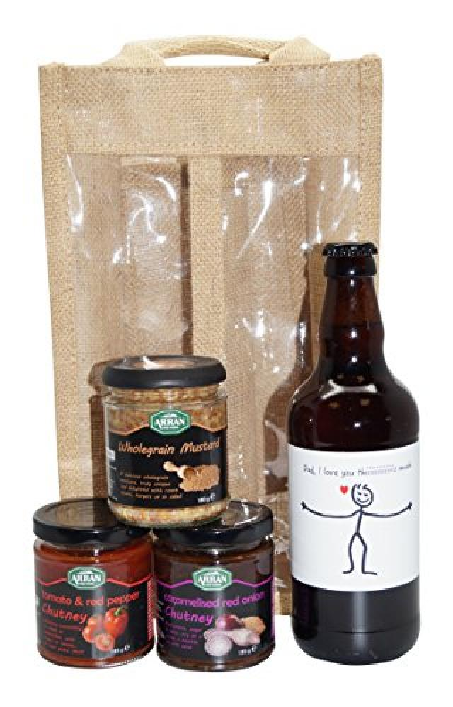 Ukgiftbox Dad I Love you this much Beer and Chutney Gift Set