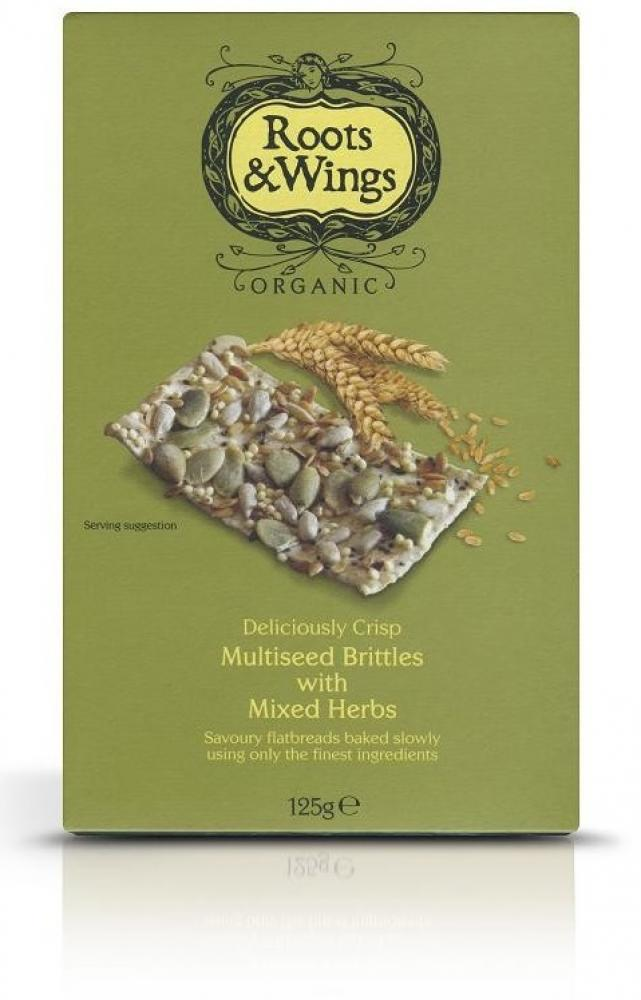 Roots and Wings Multiseed Brittles with Mixed Herbs 125g