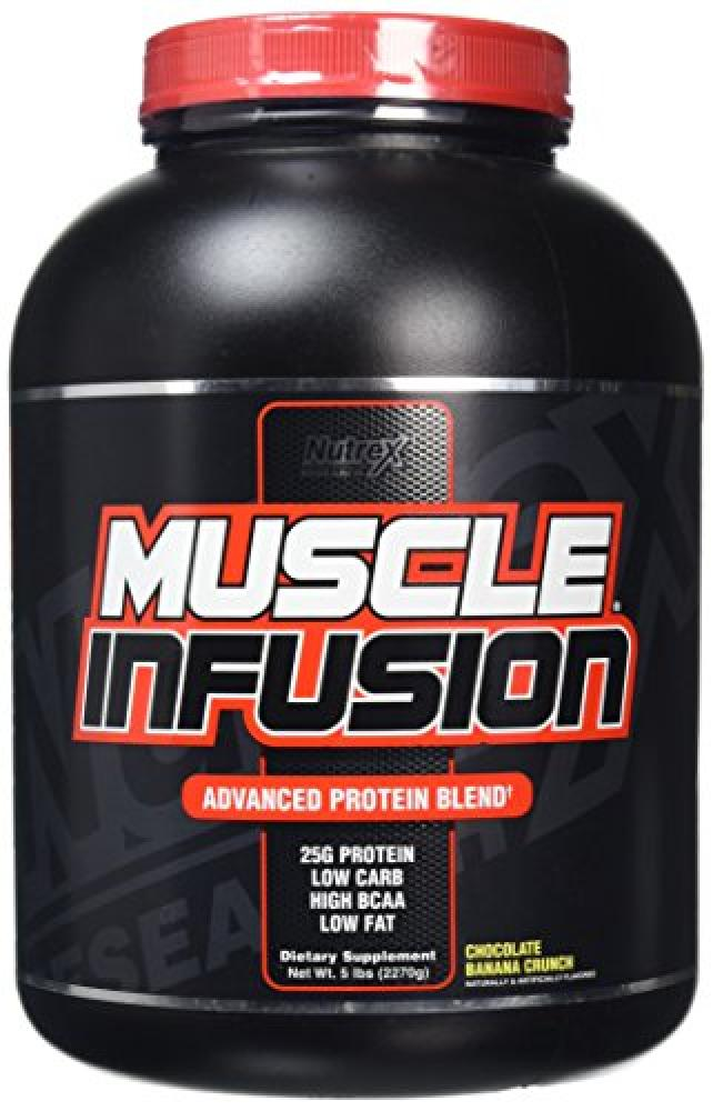 Nutrex Muscle Infusion Choco Banana Crunch Protein Powder 2.27 kg