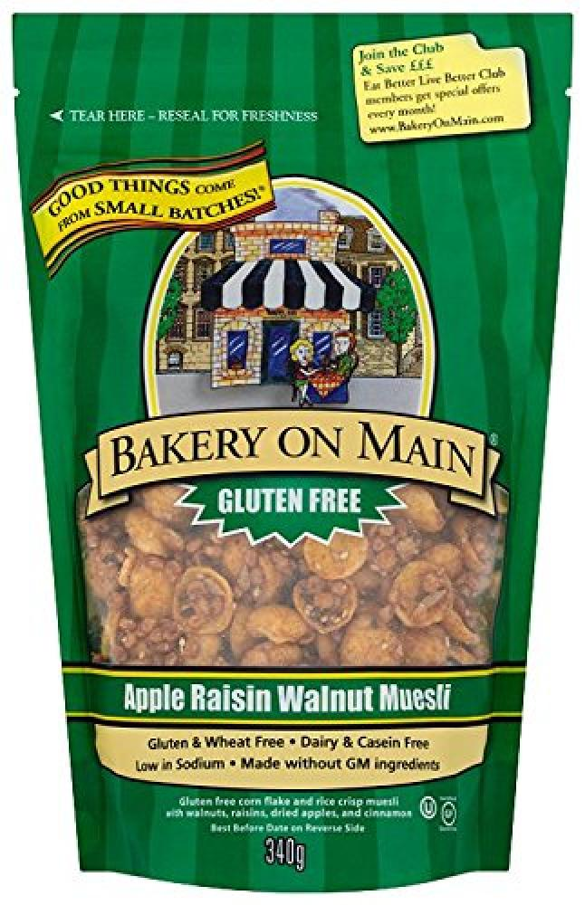 Bakery On Main Gluten Free Muesli Apple Raisin Walnut 340g