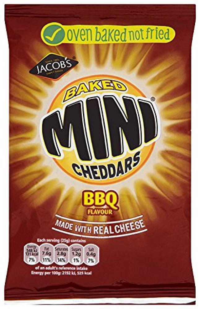 McVities Baked Mini Cheddars BBQ Flavour Biscuits 50g