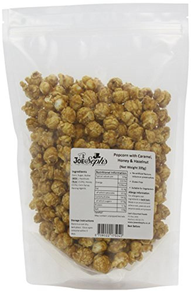 Joe and Sephs Popcorn with Caramel Honey and Hazelnut 335g