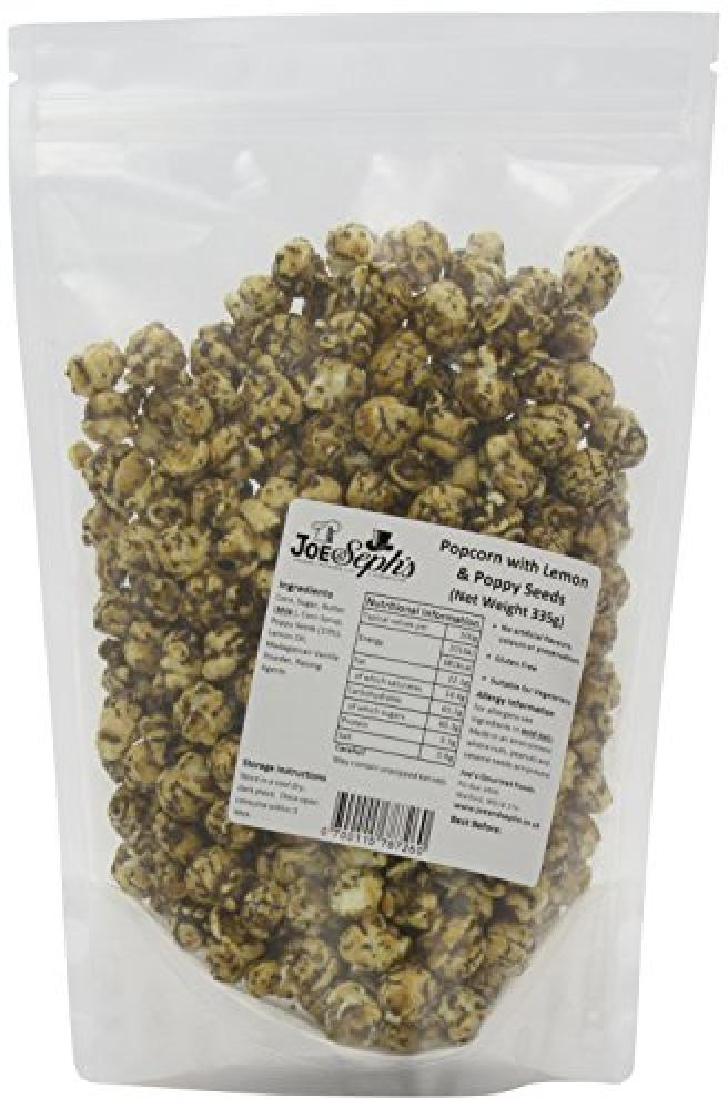 Joe and Sephs Lemon Poppy Seed Popcorn Bulk Party Catering Pack 335 g