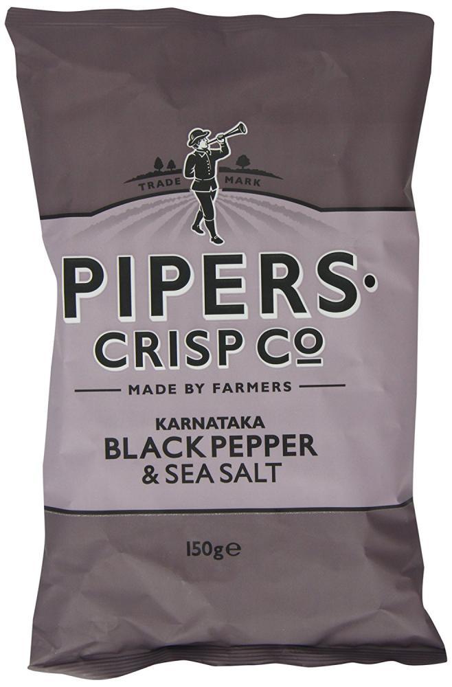 Pipers Crisp Co Karnataka Black Pepper and Sea Salt 150g