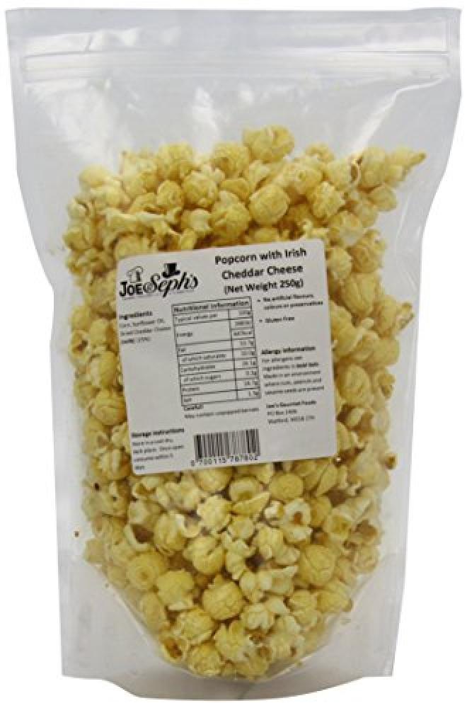 Joe and Sephs Popcorn Cheddar Cheese Catering Pack 250 g
