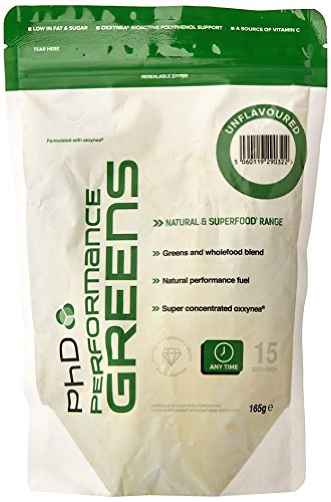 PhD Unflavoured Performance Greens Powder 165g