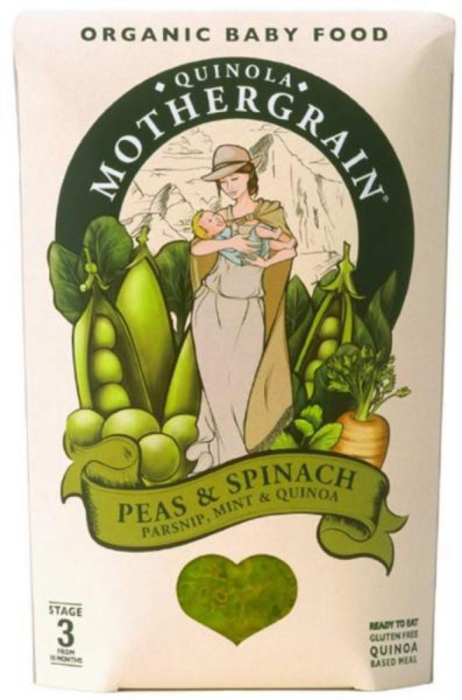 Quinola Mothergrain Baby Pea and Spinach 190g
