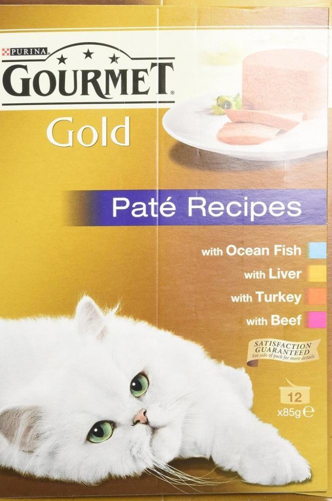 Purina Gourmet Gold Senior Cat Pate Recipes 12 x 85g