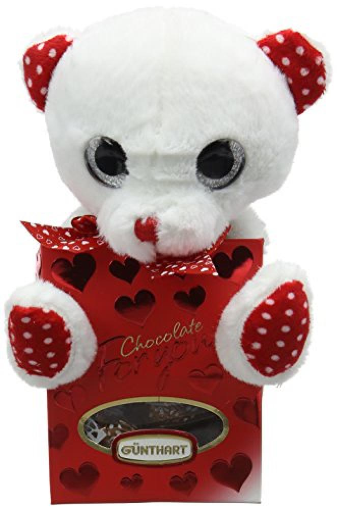 Gunthart Plush Bear in Box Filled with Pralines 45g