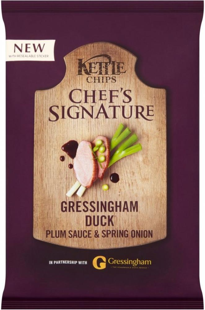 Kettle Chips Gressingham Duck Plum Sauce and Spring Onion 150g