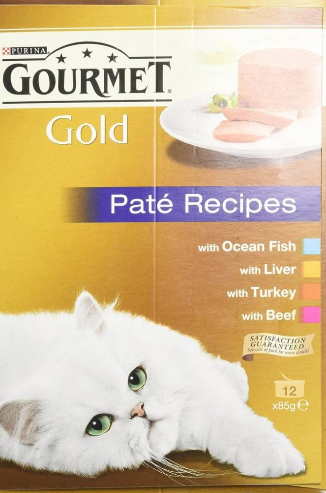 Purina Gourmet Gold Senior Cat Pate Recipes 12 x 85g