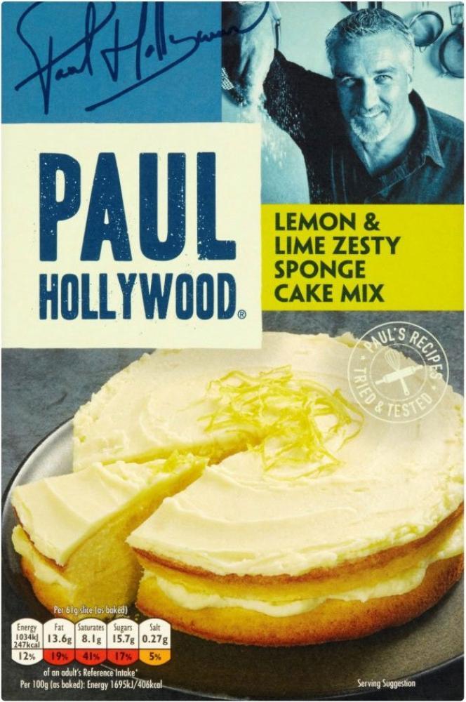 Paul Hollywood Lemon and Lime Zesty Sponge Cake Mix 373g