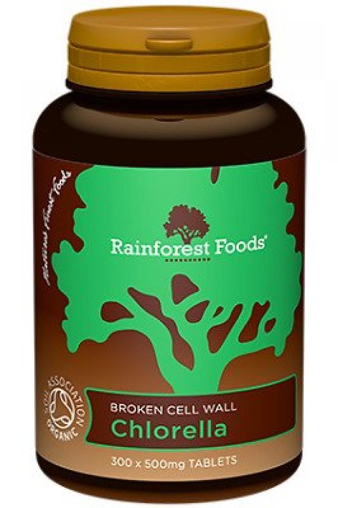 Rainforest Foods Chlorella 500mg 300 Tablets