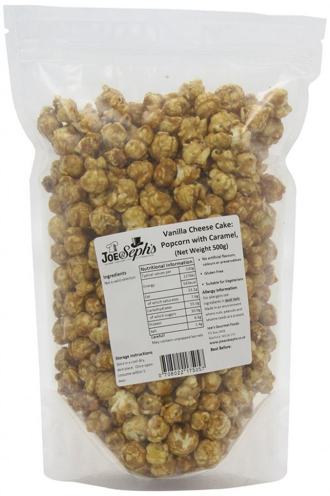 Joe and Sephs Vanilla Cheese Cake Popcorn Bulk Party Catering Pack 500g