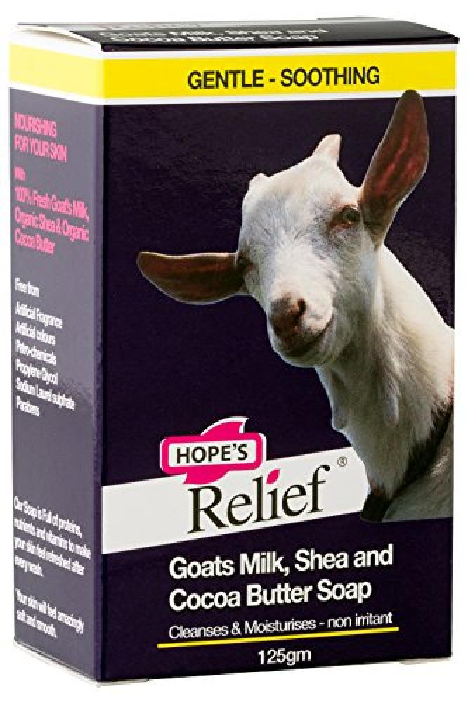 Hopes Relief Relief Goats Milk Soap - natural formula for skin prone eczema psoriasis and dermatitis (babies children adults) 125 gm
