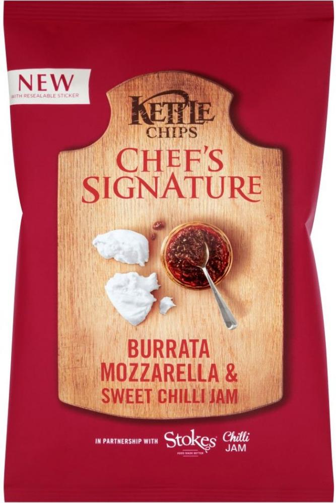 Kettle Chips Chefs Signature Burrata Mozzarella and Sweet Chilli Jam 150g