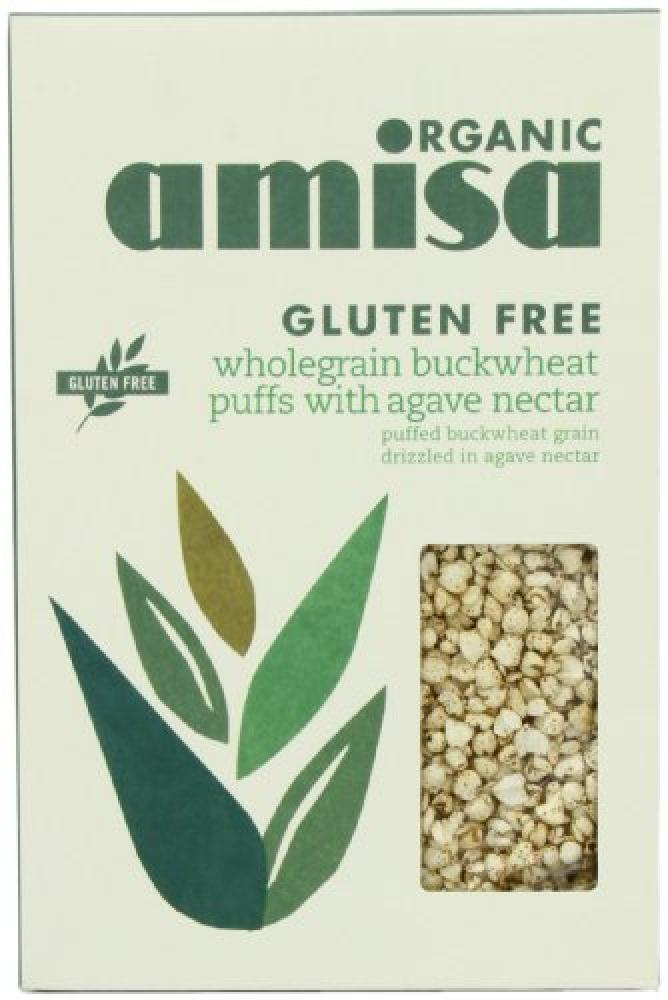 Amisa Organic Puffs Buckwheat with Agave Nectar 225g